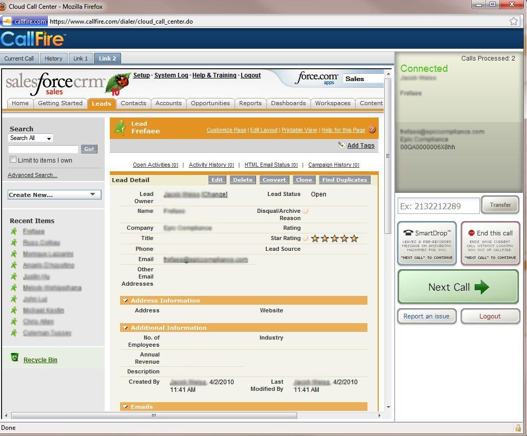 ... CallFire's Cloud Call Center with Your Web-based CRM | CallFire