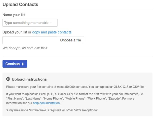 Contact Lists | CallFire