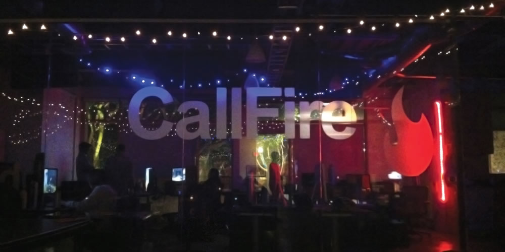 Callfire Office at Night